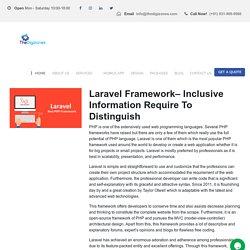 Laravel Framework- Is The Best PHP Framework