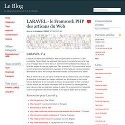 LARAVEL - le Framwork PHP des artisans du Web