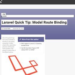 Laravel Quick Tip: Model Route Binding