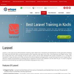 Laravel PHP framework expert level training in Kochi