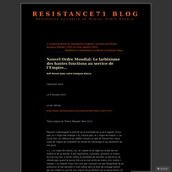 Le larbinisme des hautes fonctions au service de l'Empire : Nouvel Ordre Mondial