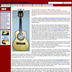 Lardy's Ukulele Database