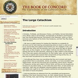 The Large Catechism - Book of Concord