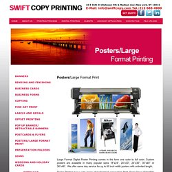 Order Rush Large Format Posters online in New York City
