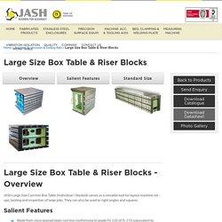 Large Size Cast Iron Box Table - Jash Materology