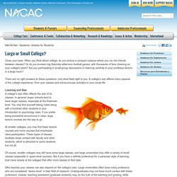 Large or Small College?