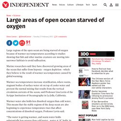 Large areas of open ocean starved of oxygen - Science - News