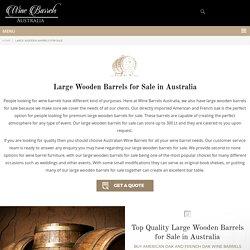 Large Wooden Barrels For Sale