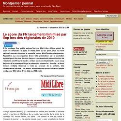 Le score du FN largement minimisé par Ifop lors des régionales de 2010
