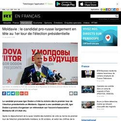 Moldavie : le candidat pro-russe largement en tête au 1er tour de l'élection présidentielle