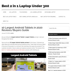 10 Largest Android Tablets in 2020 Reviews/Buyers Guide