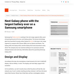 Next Galaxy phone with the largest battery ever on a Samsung smartphone