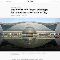The world's new largest building is four times the size of Vatican City