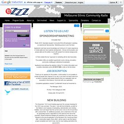 3ZZZ - the largest ethnic community radio station in Australia on 92.3FM