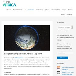 Largest Companies in Africa: Top 100 - Think Africa