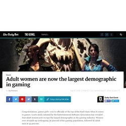 Adult women are now the largest demographic in gaming