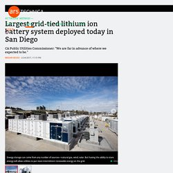 Largest grid-tied lithium ion battery system deployed today in San Diego