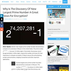 World's New Largest Prime Number Discovered, Has 22 Million Digits