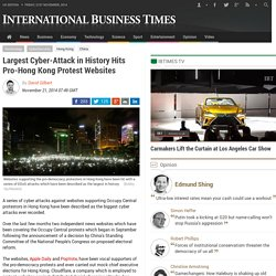 Largest Cyber-Attack in History Hits Pro-Hong Kong Protest Websites