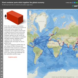 Carte interactive- les chemins de la Mondialisation : 50 Ports