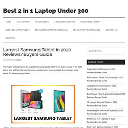 Largest Samsung Tablet in 2020 Reviews/Buyers Guide