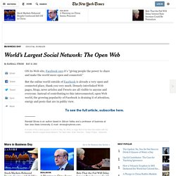 World's Largest Social Network: The Open Web