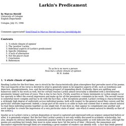Larkin's Predicament