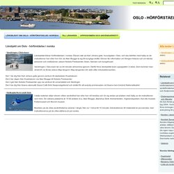 Lärobjekt om Oslo - Lärobjekt om Oslo - hörförståelse i norska
