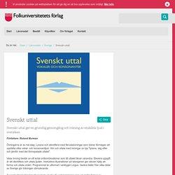 Svenskt uttal - Sverige - Läromedel - Folkuniversitetets förlag