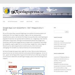 Google Apps som lärplattform – Del 1 Mappstruktur i Drive