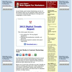 Current Issue of Web Digest For Marketers