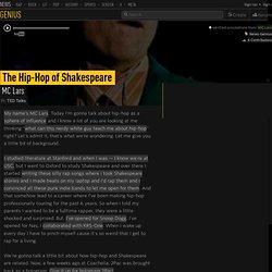 MC Lars – The Hip-Hop of Shakespeare