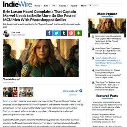 Brie Larson Photoshopped Smiles On Iron Man, Doctor Strange and More