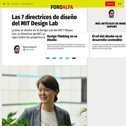 □ Las 7 directrices de diseño del MIT Design Lab