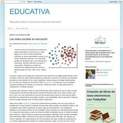 Las redes sociales en educación