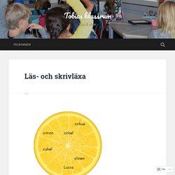 Läs- och skrivläxa – Tobias klassrum