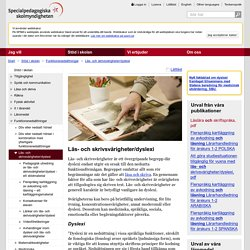 Läs- och skrivsvårigheter/dyslexi