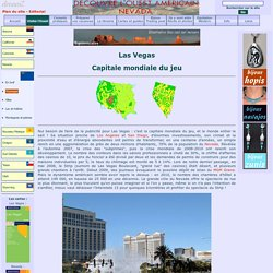 las vegas: capitale mondiale du jeu