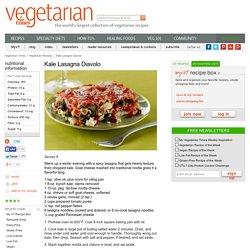 Kale Lasagna Diavolo Recipe