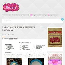 Lasagna de Erika Fuentes Vergara