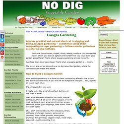 Lasagna Gardening - sheet composting - build a lasagna garden