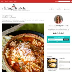 Lasagna Soup - StumbleUpon