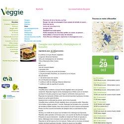 Lasagne aux épinards, champignons et tomates