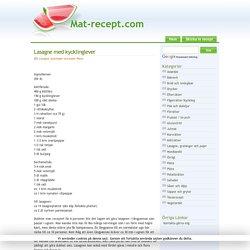 Lasagne med kycklinglever - mat-recept.com