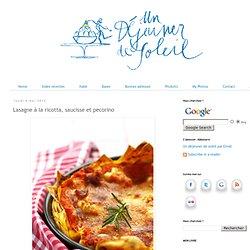 Lasagne à la ricotta, saucisse et pecorino