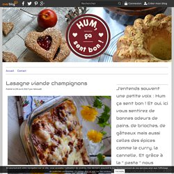 Lasagne viande champignons