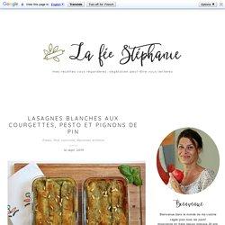 Lasagnes blanches aux courgettes, pesto et pignons de pin