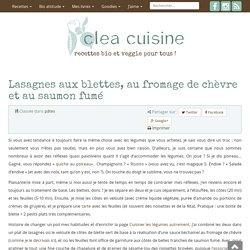 Lasagnes aux blettes, fromage de chèvre et saumon fumé