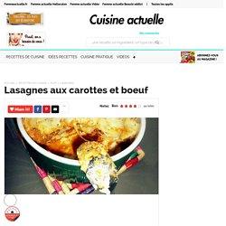 Lasagnes aux carottes et boeuf, facile