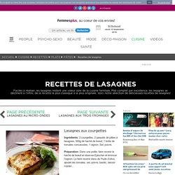 Lasagnes aux courgettes : Recettes de lasagnes